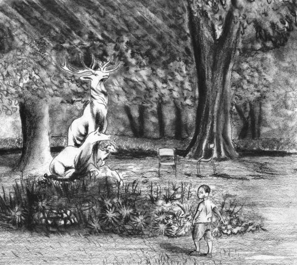 L'enfant et le cerf