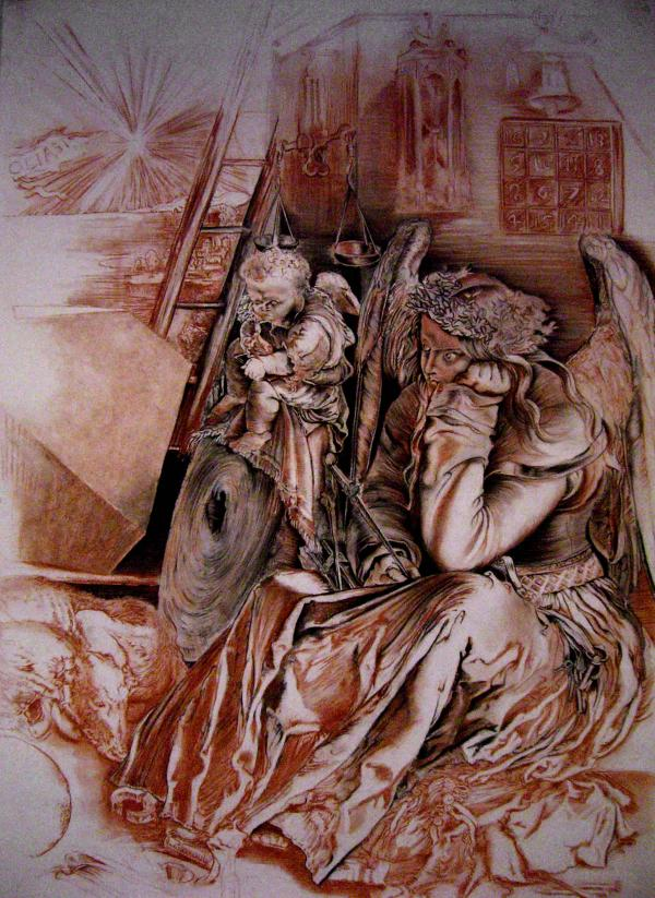 La Mélancolie (d'après la gravure de Dürer)